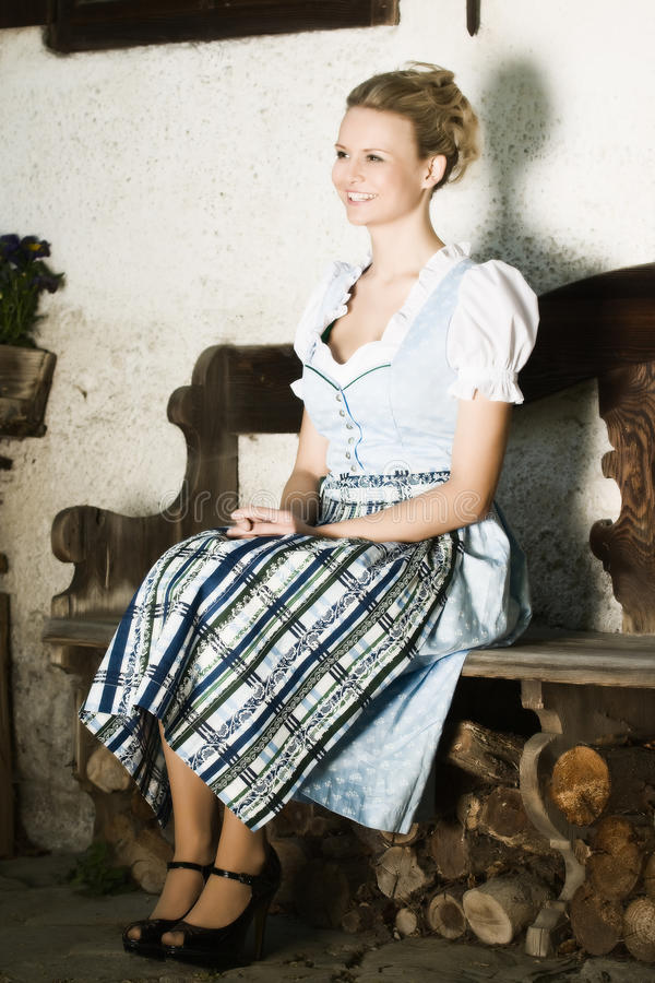 bavarian piękna ja target450_0_ zdjęcie royalty free