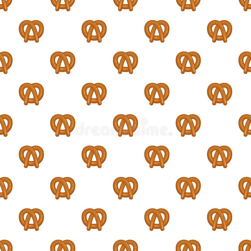 Bavarian pretzel pattern seamless. Repeat background for any web design royalty free illustration