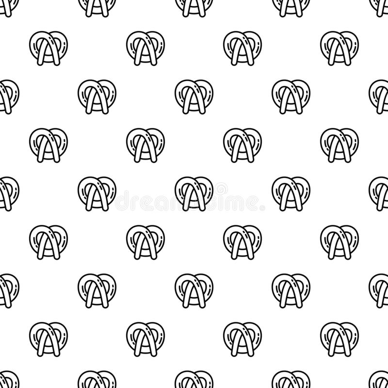 Bavarian pretzel pattern seamless. Repeat background for any web design vector illustration