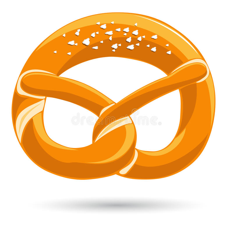 Bavarian pretzel. With salt. Vector-Illustration vector illustration