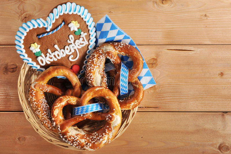 Bavarian pretzels royalty free stock photos