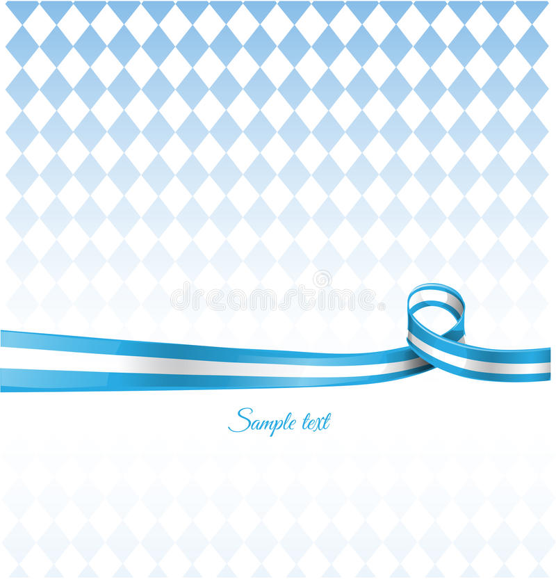 Bavarian ribbon flag. On background vector illustration