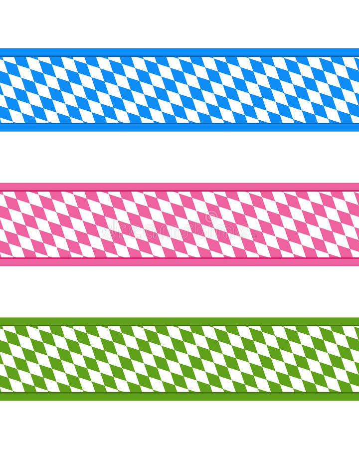 Bavarian ribbons. Detailed and accurate illustration of bavarian ribbons vector illustration