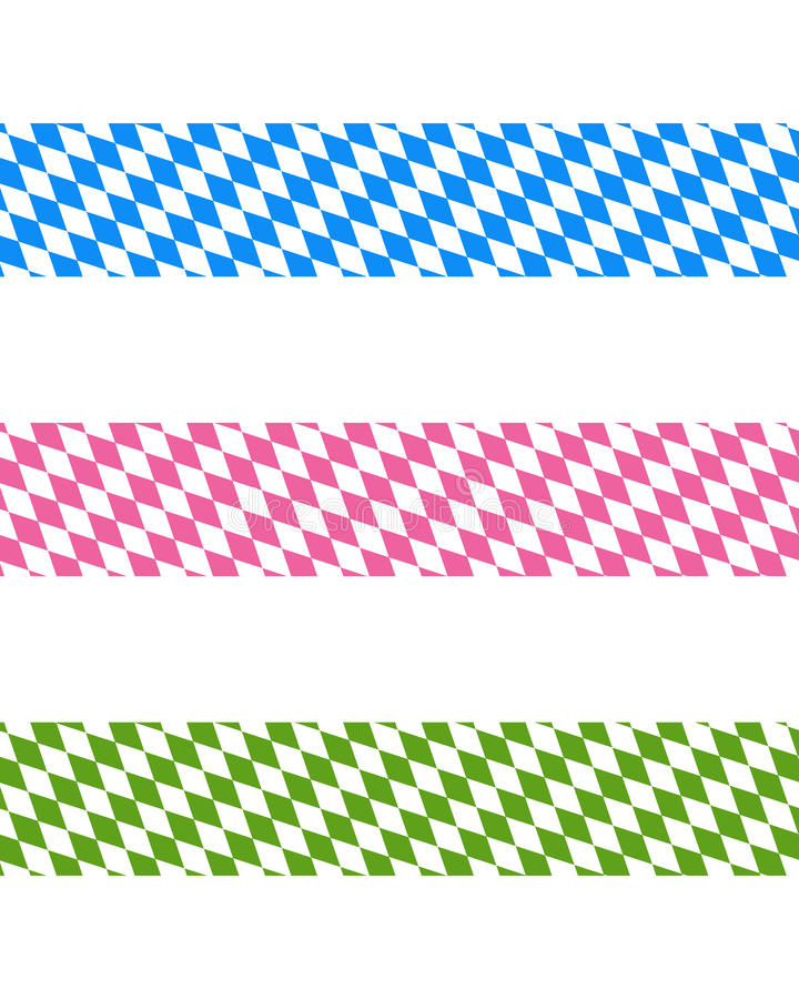 Bavarian ribbons. Detailed and accurate illustration of bavarian ribbons royalty free illustration