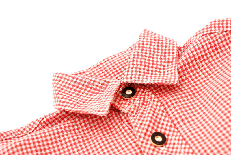 Bavarian shirt collar stock image