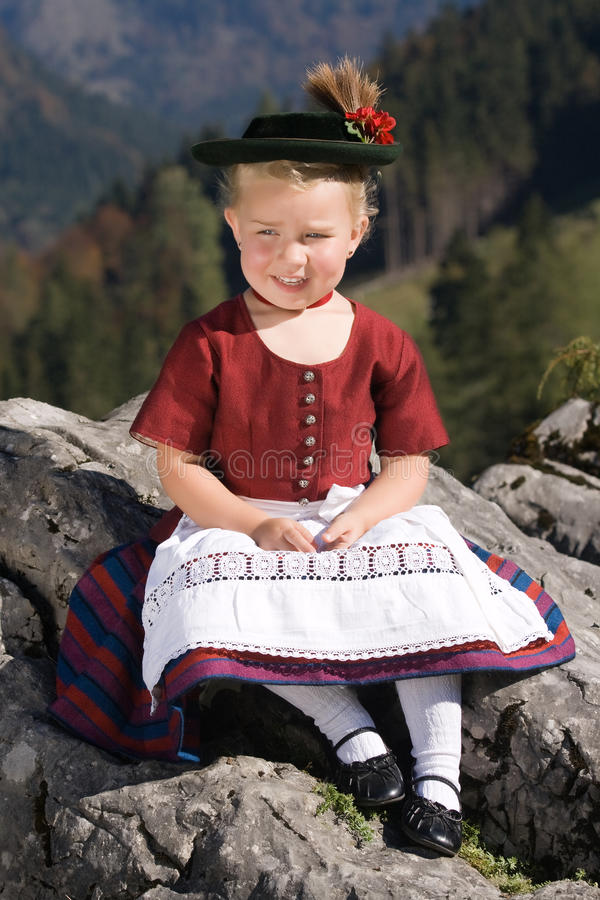 Download Bavarian toddler stock photo. Image of schliersee, blonde - 21475344