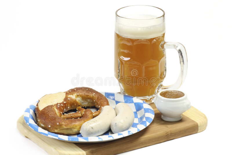 Bavarian Veal Sausage royalty free stock photos