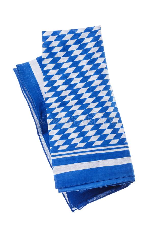 Free Bavarian White-blue Napkin In A Collapsed Position Stock Image - 130012341