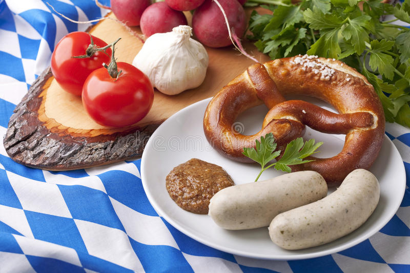 Bavarian White Sausages Stock Images