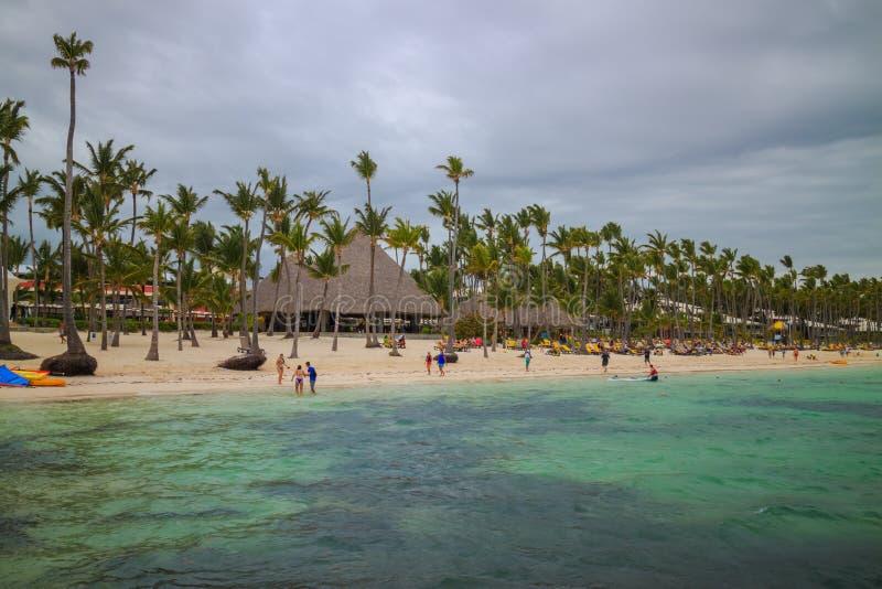Bavarostrand in Punta Cana, Dominicaanse Republiek stock afbeeldingen