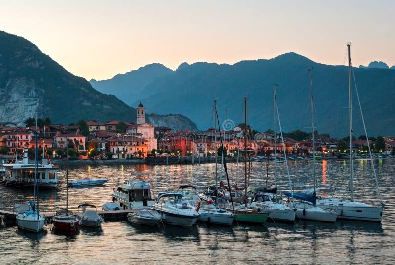 Baveno (Lago Maggiore Italia) fotografía de archivo libre de regalías