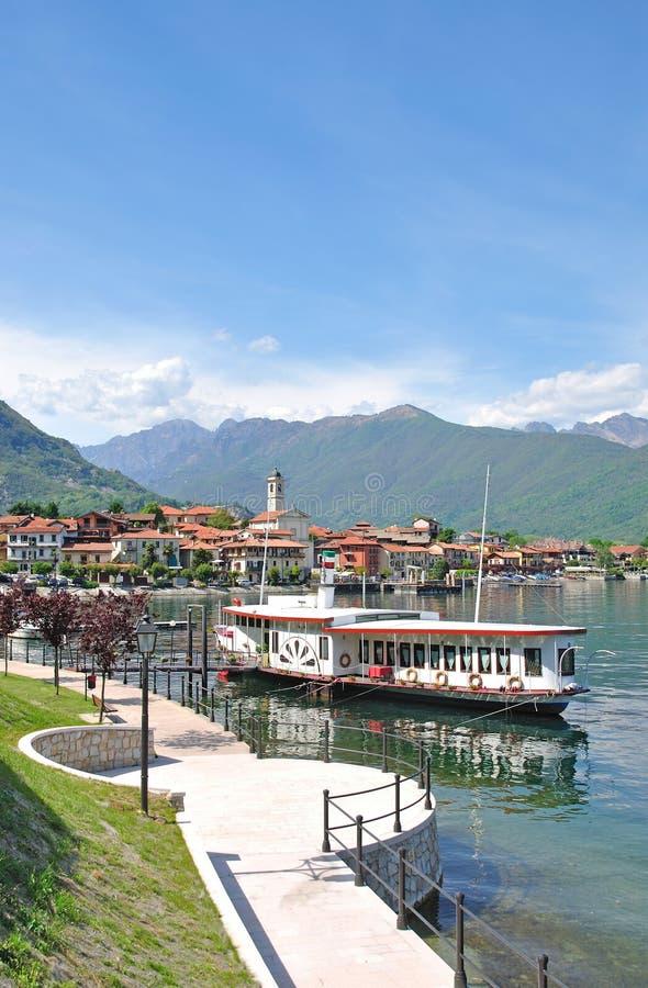 Baveno, lago Maggiore, Lago Maggiore, Italia foto de archivo libre de regalías