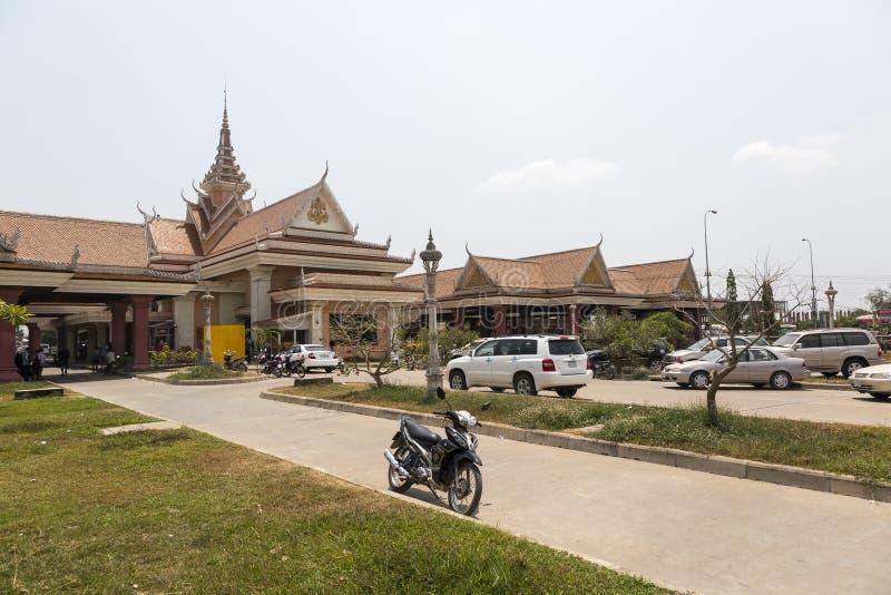 Bavet grensovergang tussen Kambodja en Vietnam royalty-vrije stock foto's