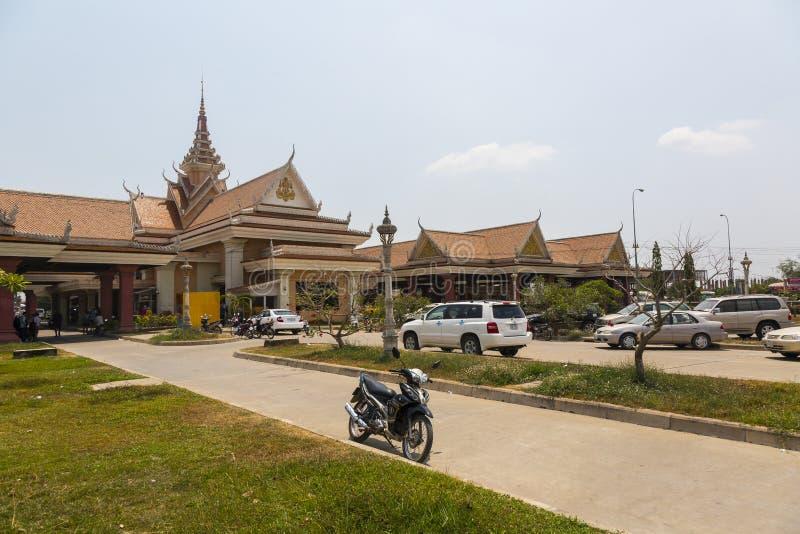 Bavet grensovergang tussen Kambodja en Vietnam stock fotografie