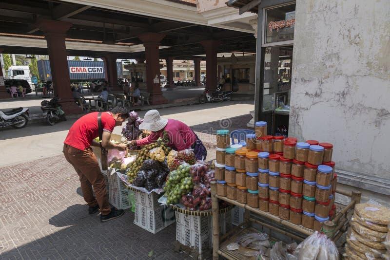 Bavet grensovergang tussen Kambodja en Vietnam royalty-vrije stock foto
