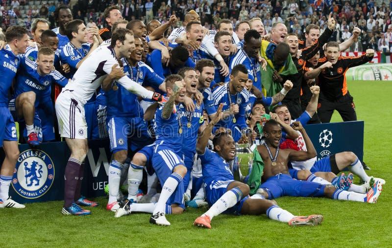 Baviera Munich contra final del CL de la UEFA de Chelsea FC foto de archivo libre de regalías