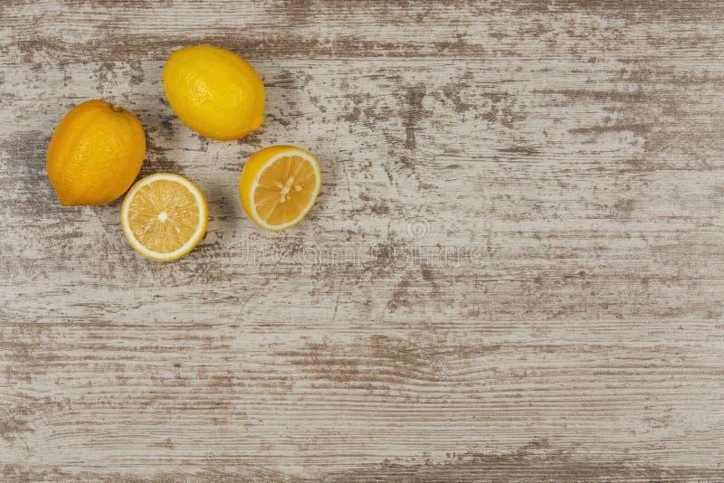 Bavkground avec des citrons photographie stock libre de droits