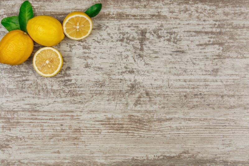 Bavkground avec des citrons images stock