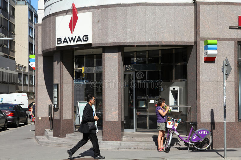 BAWAG Bank in Austria stock image