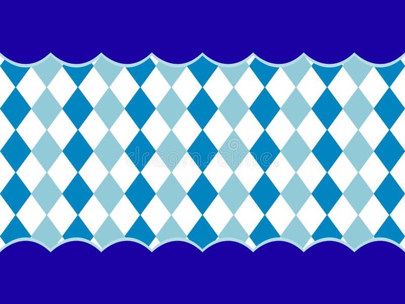 Bawarski flaga wzoru tło Tło projekt dla Oktoberfest ilustracja wektor