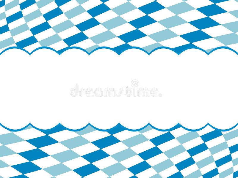 Bawarski flaga wzoru tło z kopii przestrzenią Tło projekt dla Oktoberfest ilustracja wektor