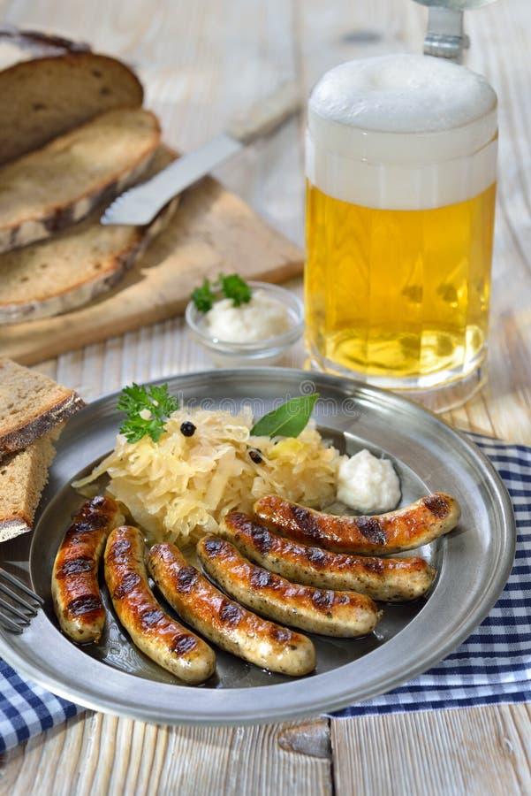 Bawarski posiłek obrazy royalty free