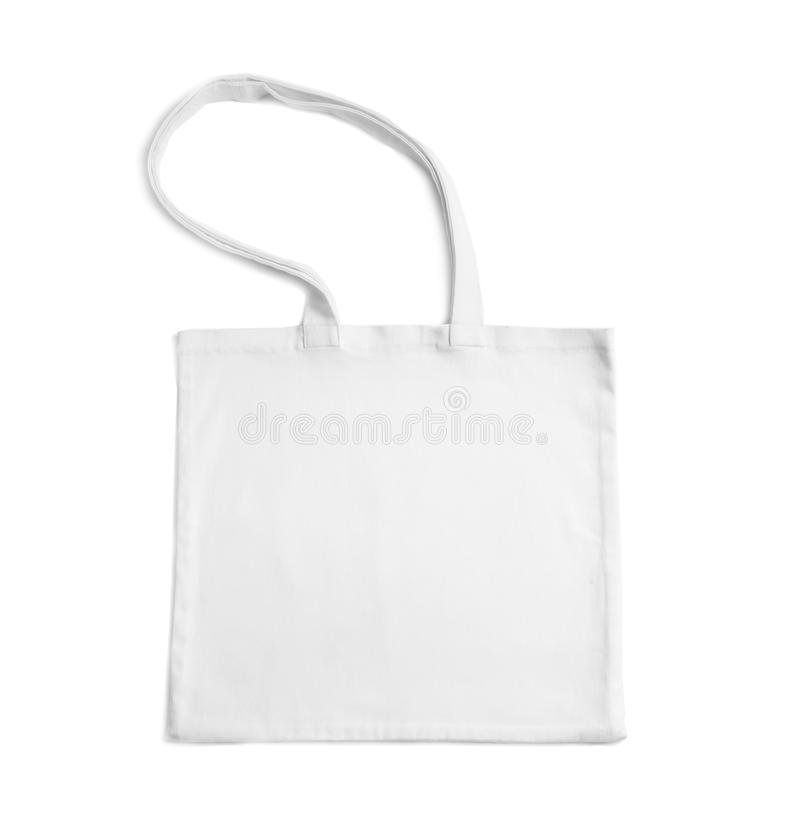 Bawełniana duży ciężar torba na białym tle obraz royalty free