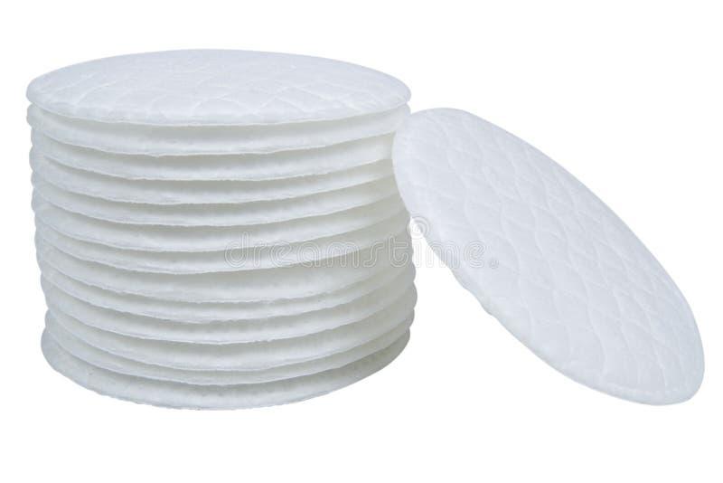 Bawełniani mopy odizolowywający na bielu zdjęcia stock