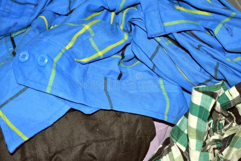 Bawełniany błękitny sukienny tło fotografia royalty free