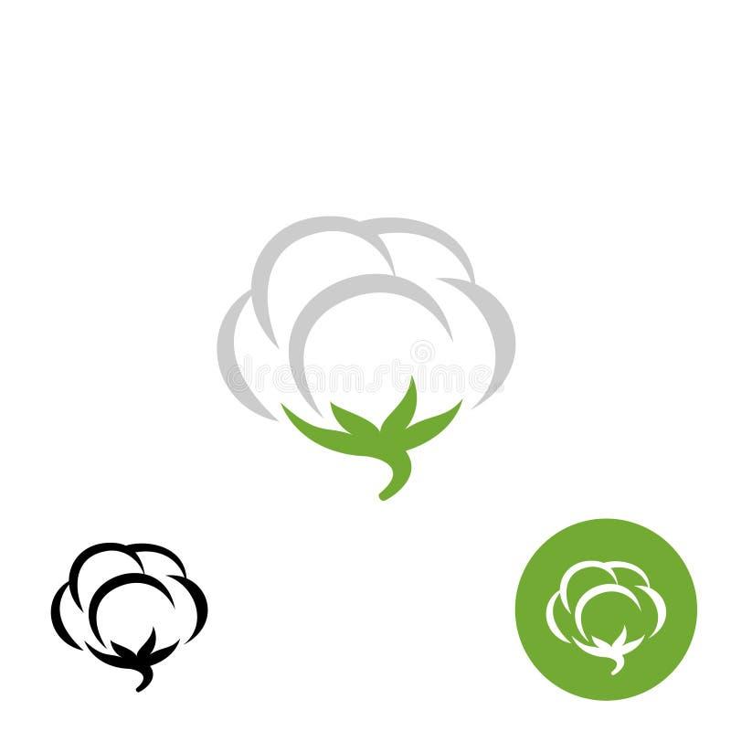Bawełniany wektorowy logo z różnicami royalty ilustracja
