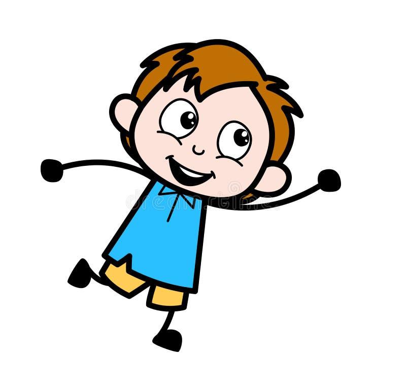 Bawić się dzieciaka - Szkolnej chłopiec postaci z kreskówki wektoru ilustracja royalty ilustracja