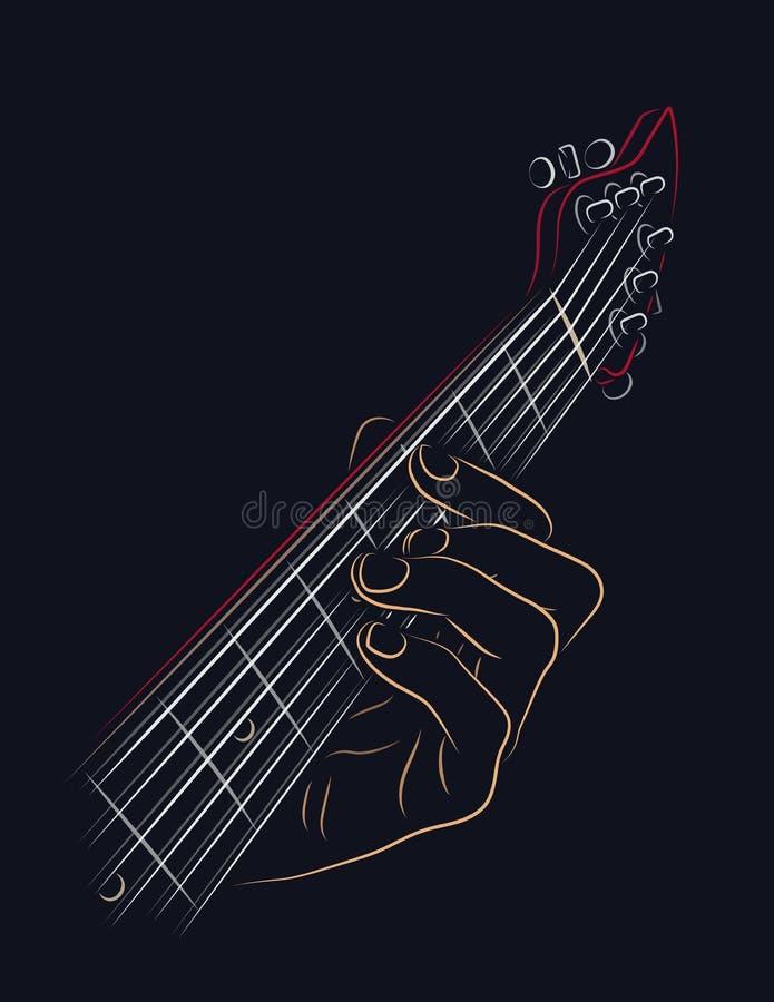 Bawić się gitara akord ilustracja wektor