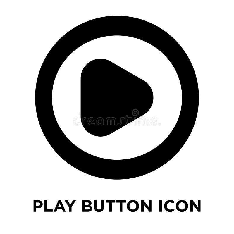 Bawić się guzik ikony wektor odizolowywającego na białym tle, loga conce royalty ilustracja