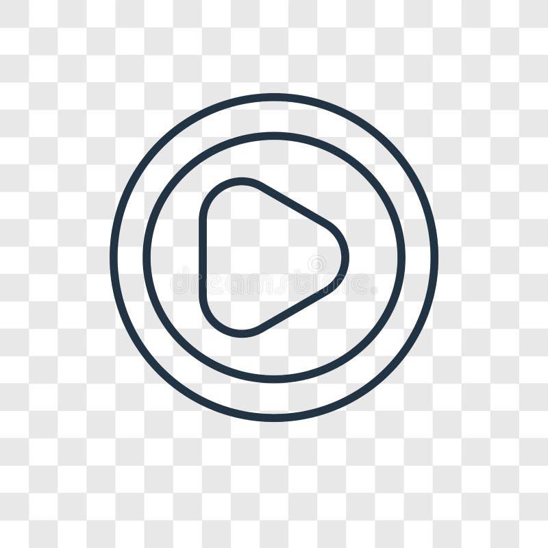 Bawić się guzika pojęcia wektorową liniową ikonę odizolowywającą na przejrzysty b ilustracji