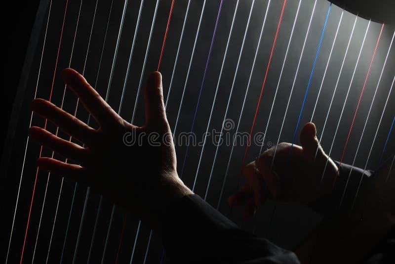 Bawić się harfę zdjęcie stock