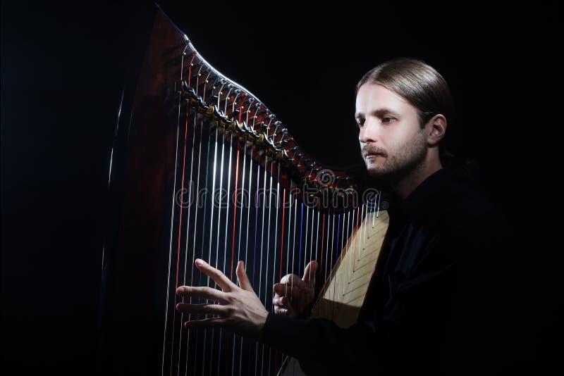 Bawić się harfę obraz royalty free