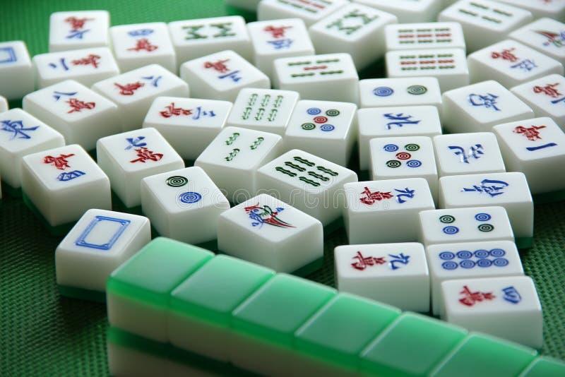 Bawić się Mahjong płytki zdjęcie royalty free
