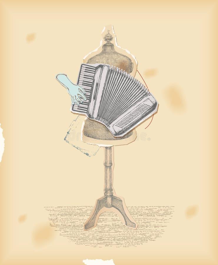 Bawić się muzykę nie instrument ilustracja wektor