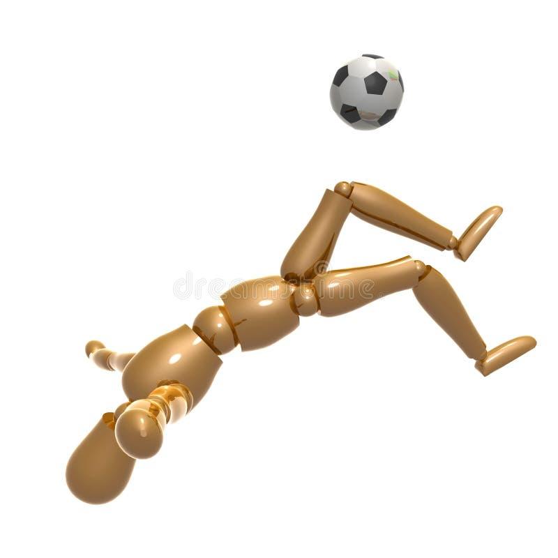 bawić się piłkę nożną atrapy balowa postać ilustracja wektor
