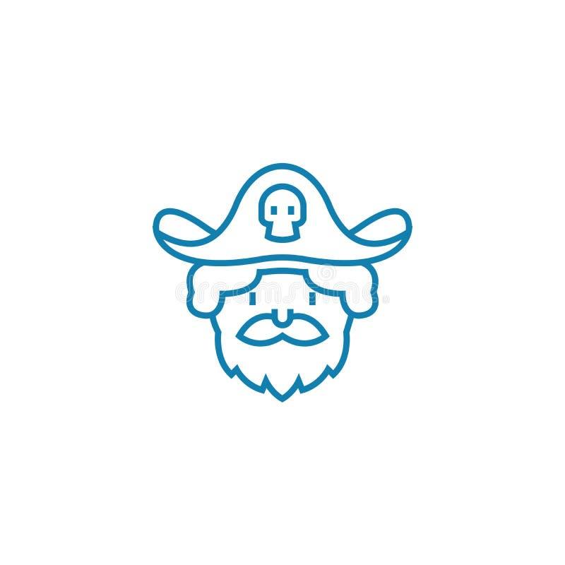 Bawić się pirat ikony liniowego pojęcie Bawić się pirata wektoru kreskowego znaka, symbol, ilustracja ilustracja wektor