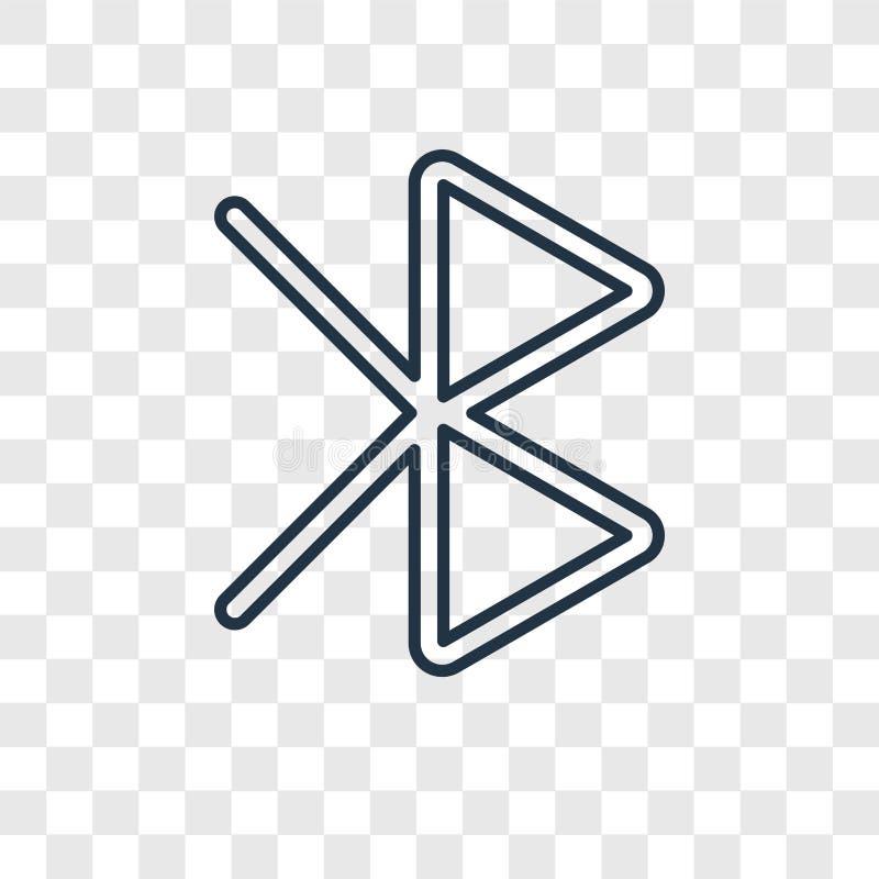 Bawić się pojęcie wektorową liniową ikonę odizolowywającą na przejrzystym backgrou ilustracja wektor