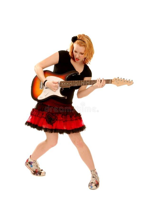 bawić się ruch punków dziewczyny gitara fotografia stock