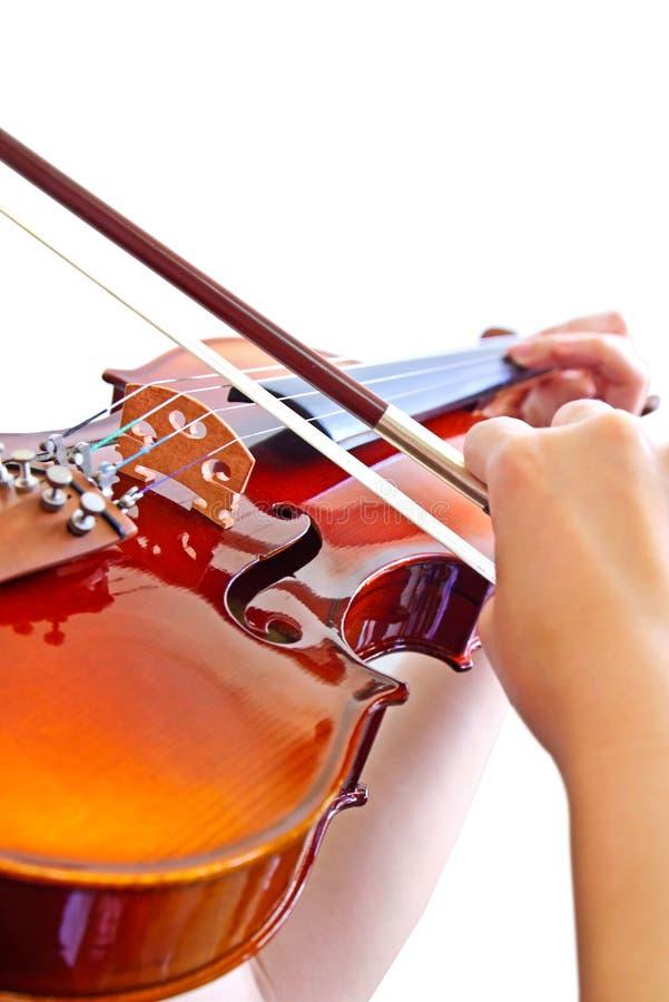 bawić się s skrzypce ręki dama obraz stock