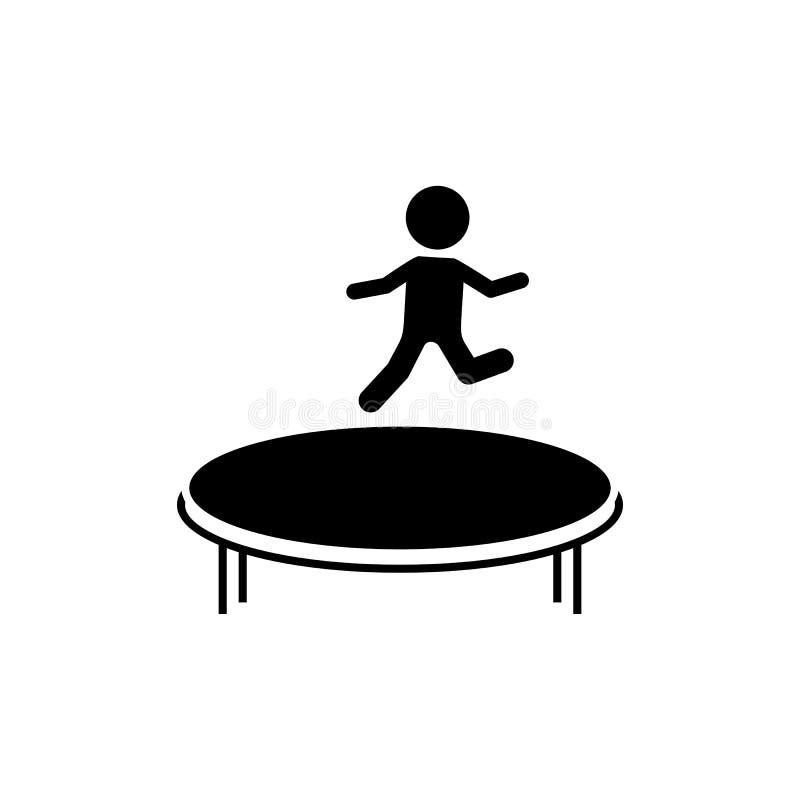 Bawić się, skaczący, dziecko, gemowa ikona Element dziecko piktogram Premii ilo?ci graficznego projekta ikona znaki i symbole ink royalty ilustracja