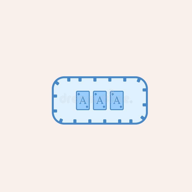 bawić się stół w kasynowej ikonie Element kasynowa ikona dla mobilnych pojęcia i sieci apps Śródpolny kontur bawić się stół w cas ilustracja wektor