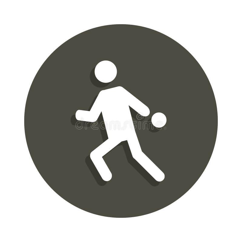 bawić się stołowego tenisa sylwetki ikonę w odznace projektuje Jeden piktogram inkasowa ikona może używać dla UI, UX ilustracja wektor