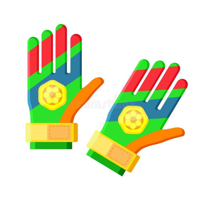 Bawi się bramkarz rękawiczki ilustracja wektor