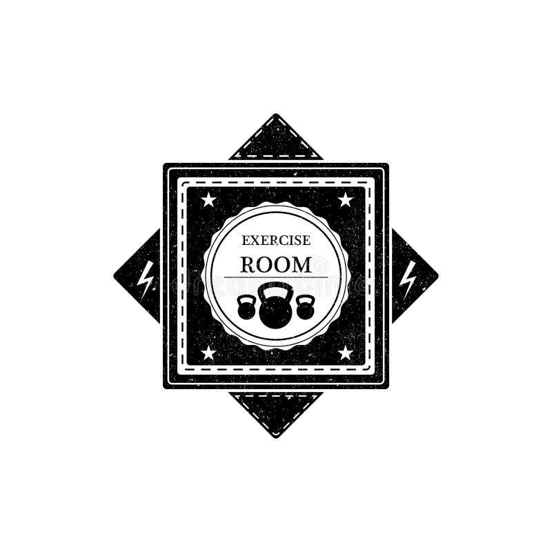 Bawi się emblemata loga dla sprawności fizycznej gym również zwrócić corel ilustracji wektora ilustracja wektor