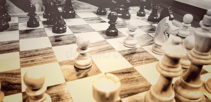 Bawi się gemowego szachowego blacknwhite fotografia royalty free