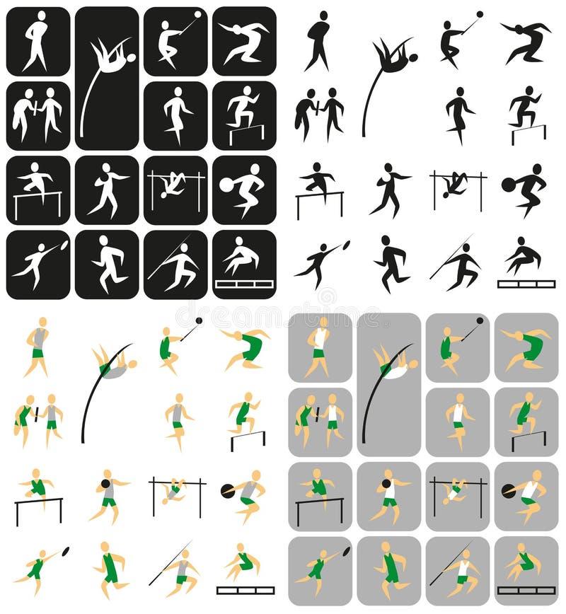 Bawi się ikon atletyka ilustracji